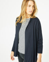 Pluton navy blue cardigan/jacket with diamanté detailing navy.