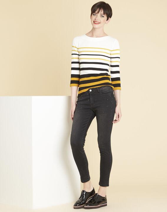 Gasayat ochre striped T-shirt (2) - 1-2-3