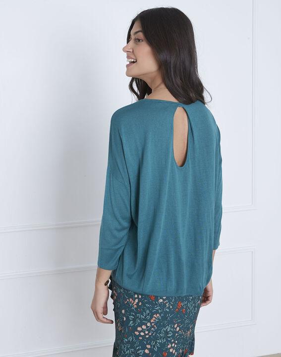Blauer Pullover mit raffiniertem Halsausschnitt Avenir (4) - Maison 123
