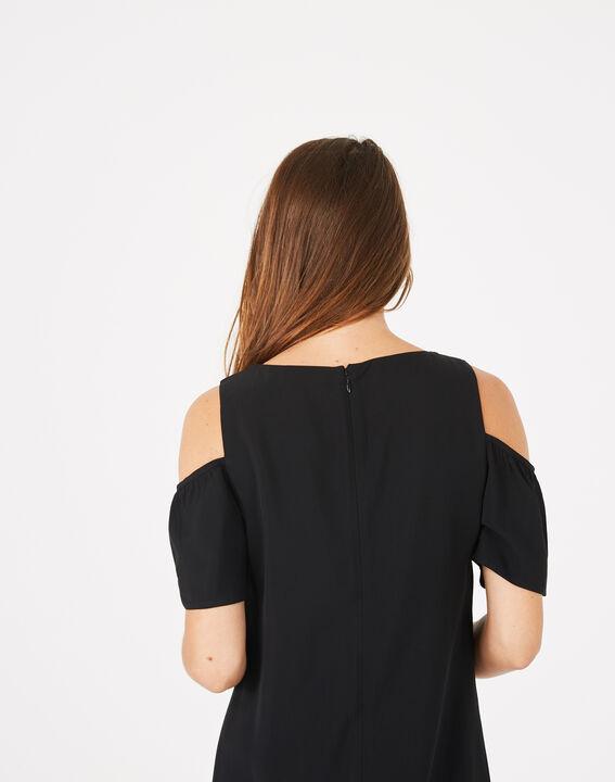 Schwarzes Kleid mit gestickten Details Gypsy (5) - 1-2-3