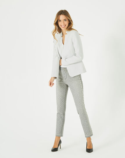 Bea light grey, tailored jacket with lapels (1) - 1-2-3