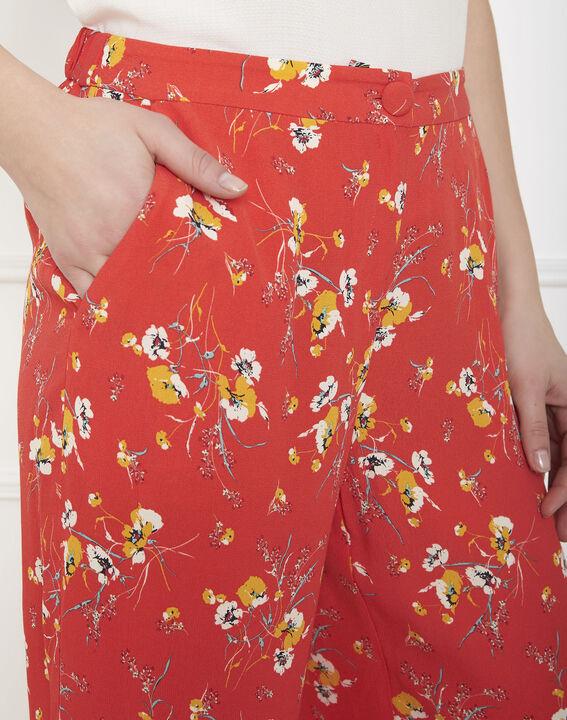 Pantalon rouge large imprimé fleuri Gigi (3) - Maison 123