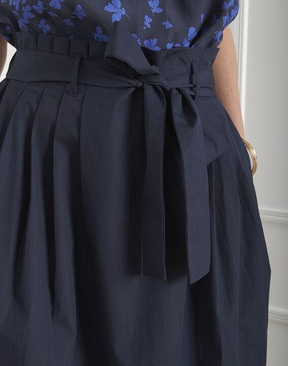 Jupe marine plis et ceinture Suzon (4) - Maison 123