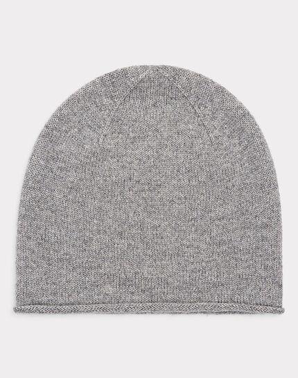 Graumelierte glänzende Kaschmir-Mütze Tilleul bis (1) - 1-2-3