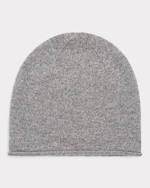 Bonnet gris chiné brillant en cachemire Tilleul bis (1) - 1-2-3