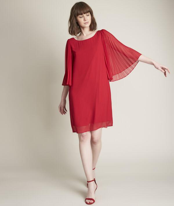 Robe rouge en crêpe Olivia PhotoZ | 1-2-3