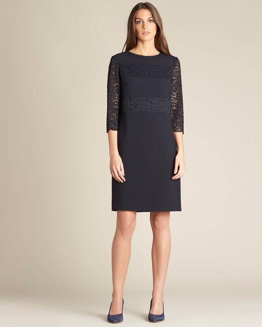 Polly navy blue lace dress (2) - 1-2-3
