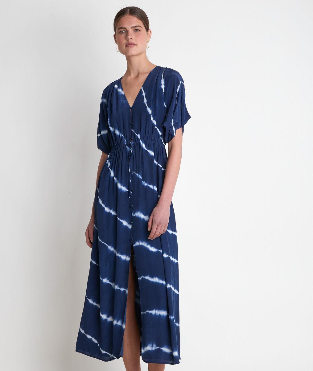 Robe longue imprimée encre Leslie  PhotoZ | 1-2-3