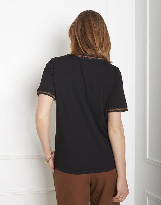 Tee-shirt noir détails ruban Proove (3) - Maison 123