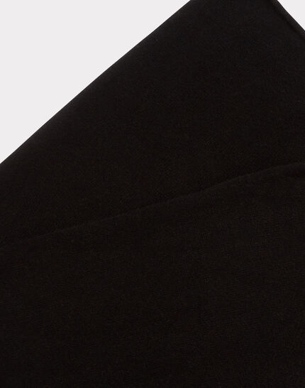 Echarpe noire en cachemire Tournesol (2) - 1-2-3