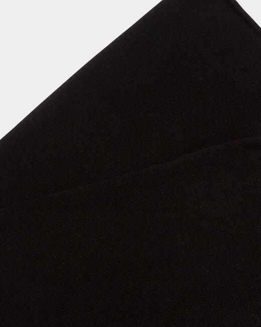 Echarpe noire en cachemire Tournesol (1) - 1-2-3