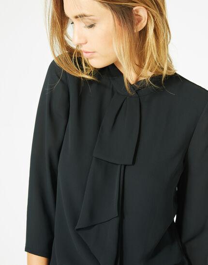 Tee-shirt noir à volants Bulle (3) - 1-2-3