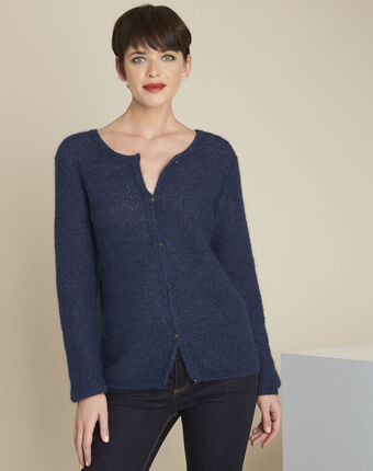 Bonbon blue mohair mix cardigan blue.