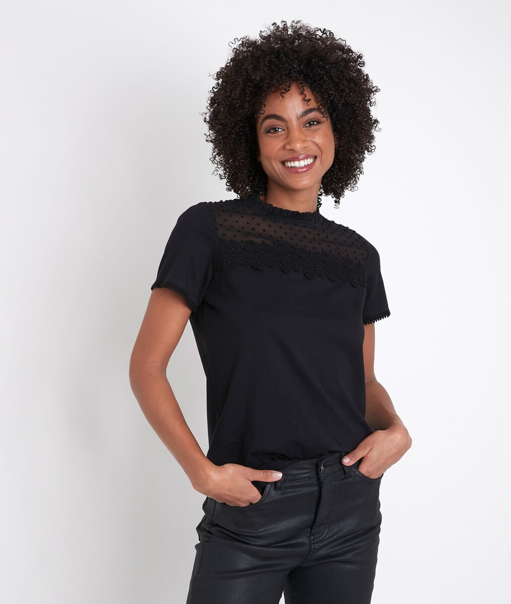 Tee-shirt en dentelle Dixie PhotoZ   1-2-3