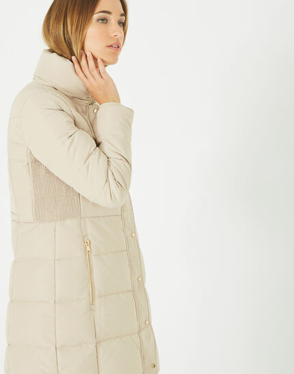 Lise mid-length cream puffer jacket (1) - 1-2-3