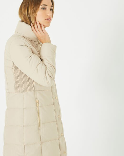 Lise mid-length cream puffer jacket (2) - 1-2-3
