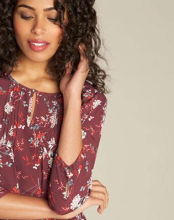 Anouchka burgundy printed blouse bordeaux.