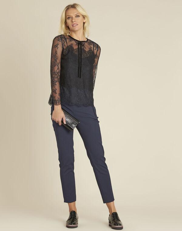 Pantalon marine slim compacte Holly (2) - 1-2-3