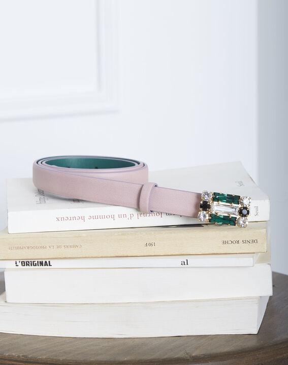 Hellrosa Ledergürtel mit Fantasie-Schnalle Kristen (1) - Maison 123