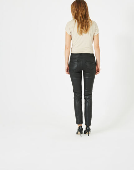 William coated slim-cut black trousers (5) - 1-2-3