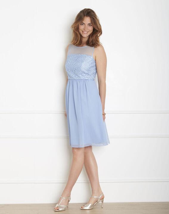 Robe bleu ciel en dentelle Hilda PhotoZ | 1-2-3