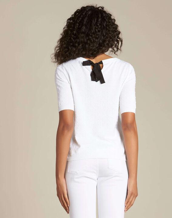 Pull blanc avec noeud dos Nadia (4) - 1-2-3