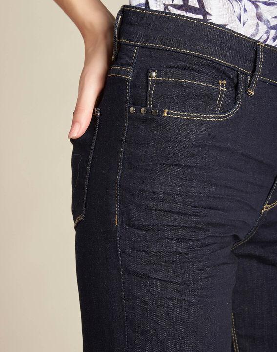 Marineblaue gerade Jeans normale Leibhöhe Vivienne PhotoZ | 1-2-3