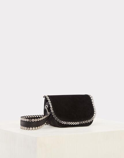Ryme black leather bag with eyelets (1) - 1-2-3