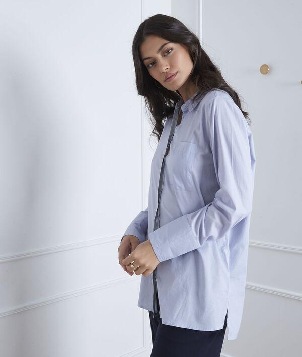 Blauw hemd met zilverkleurig detail Valza PhotoZ | 1-2-3