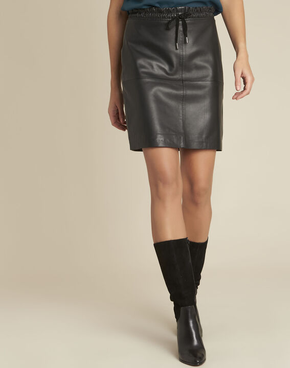 Zwarte rok van glad leder Atila PhotoZ | 1-2-3