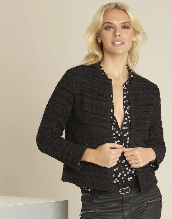 Schwarze Jacke aus Baumwoll-Melange Belly PhotoZ | 1-2-3