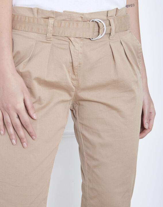 Pantalon beige chino ceinturée Clovis (3) - Maison 123