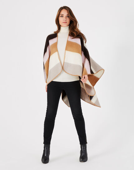 Elola striped pastel poncho (2) - 1-2-3