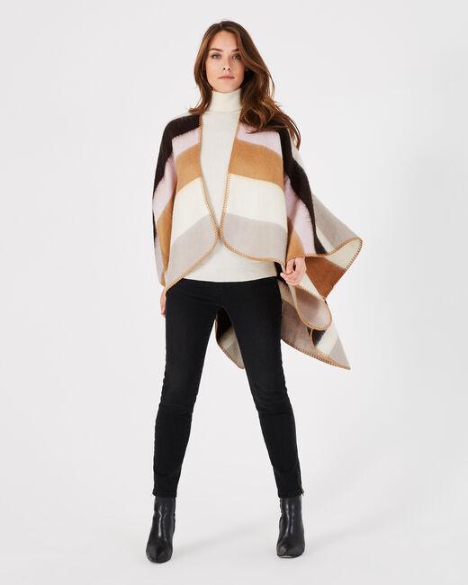 Elola striped pastel poncho (1) - 1-2-3