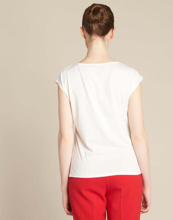 Ecrufarbenes T-Shirt mit Zebra-Print Echo (4) - 1-2-3