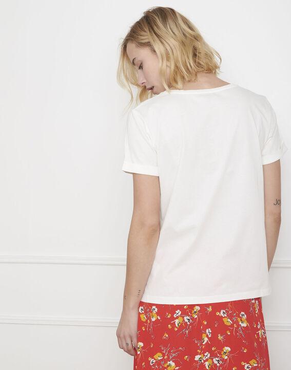 Tee-shirt écru message coton biologique Paquerette (4) - Maison 123