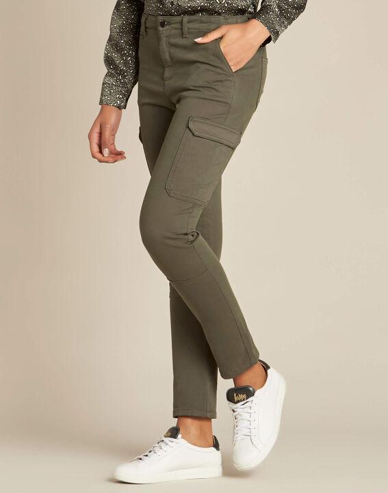 Damien 7/8 length khaki safari trousers (3) - 1-2-3