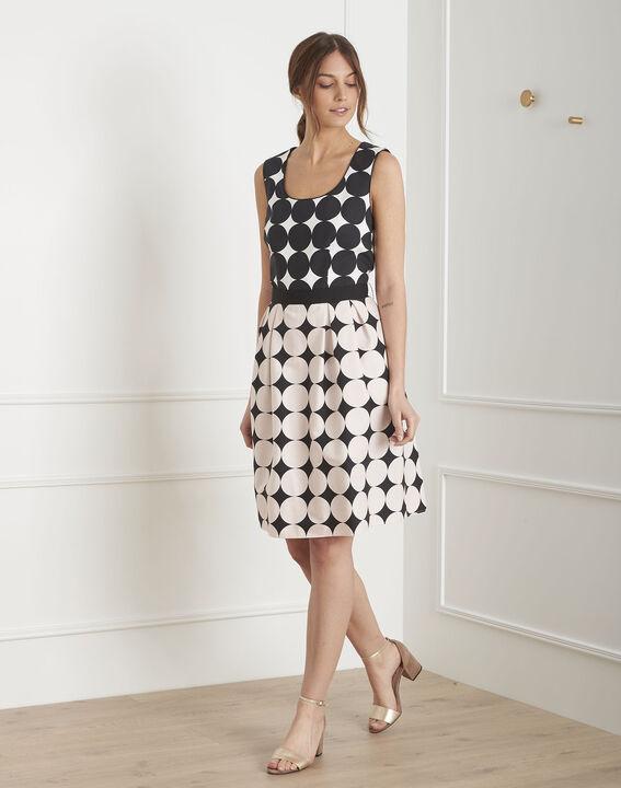 Robe noir & blanc imprimé pois Hisis (2) - Maison 123