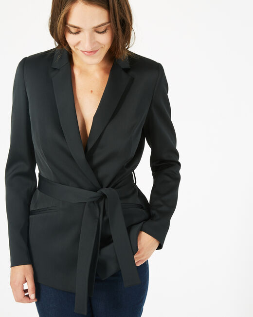 Marina black belted jacket (2) - 1-2-3