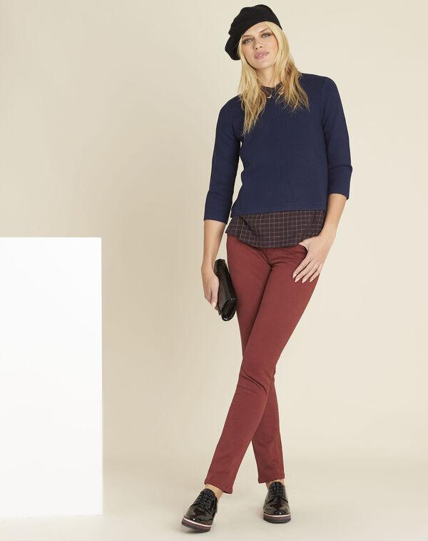 Marineblauwe trui met geruit hemd Banjo (2) - 37653
