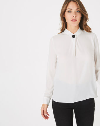Chemise blanche bijou darling blanc casse.