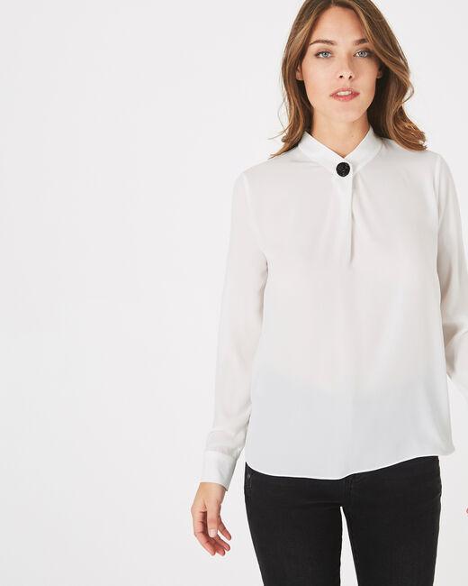 Weiße Hemdbluse mit Schmuckdetail Darling (2) - 1-2-3