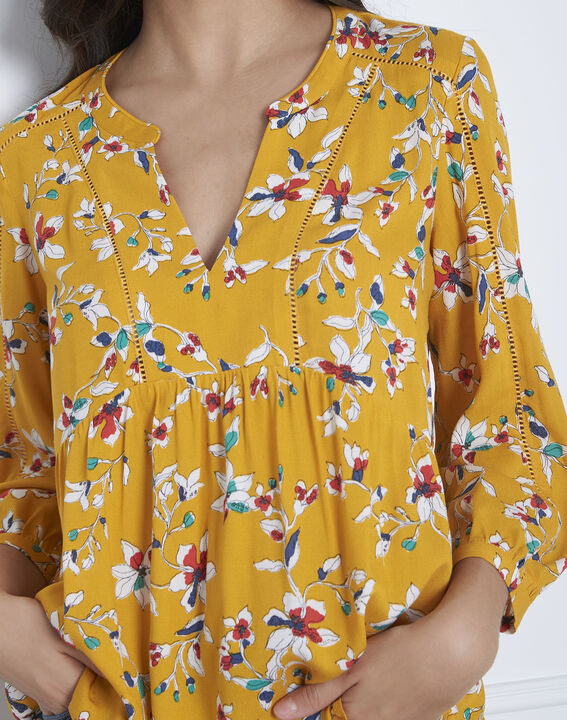 Blouse jaune imprimé Vigue (4) - Maison 123