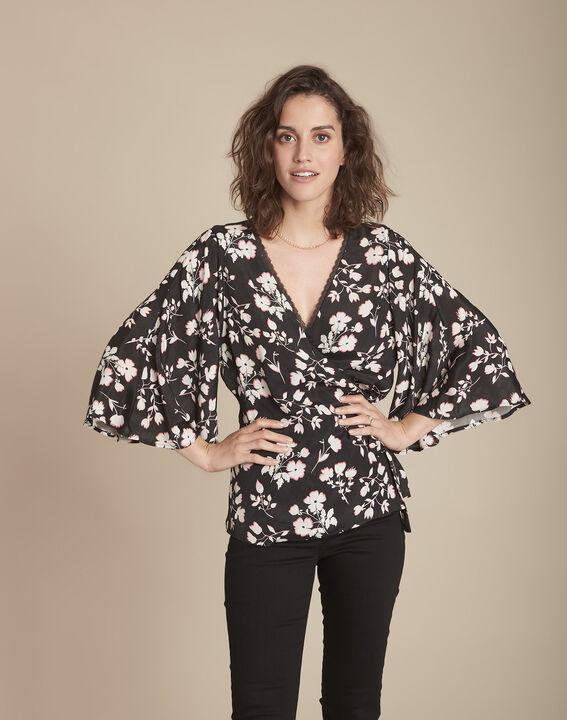 Blouse kimono imprimé fleuri Milan PhotoZ   1-2-3