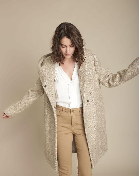 Manteau beige en laine Edwin PhotoZ | 1-2-3