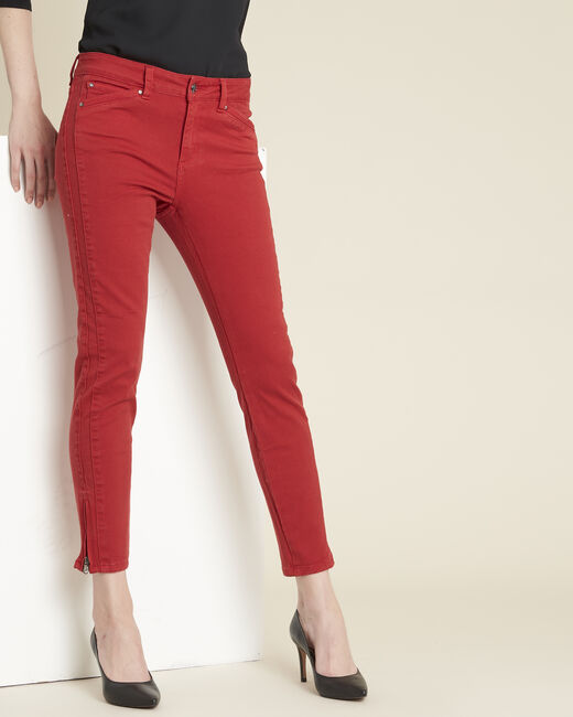 Opéra slim-cut red jeans with zip detailing (1) - 1-2-3