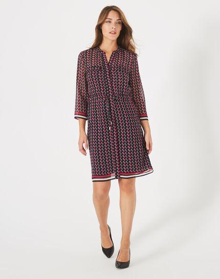 Andréa fuchsia printed dress (1) - 1-2-3