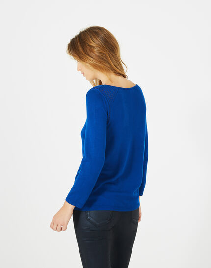 Pergola royal blue openwork sweater (5) - 1-2-3