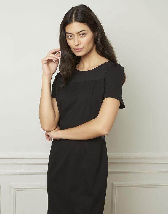 Zwarte jurk met strassteentjes Ness (1) - Maison 123
