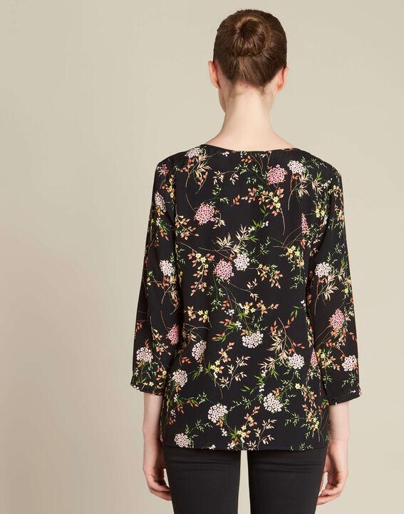 Blouse noire imprimé fleuri Anouchka PhotoZ | 1-2-3